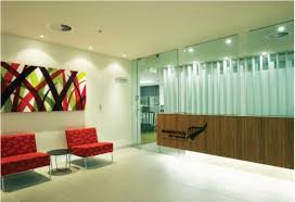 interior office design ideas. Stylish Interior Office Design Ideas Contemporary Red Sofa Fascinating Commercial C