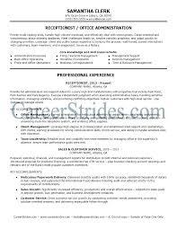 Front Office Resume Examples Medical Front Desk Resume Sample