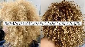 repair dry damaged blonde curly hair