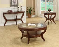 coffee table cherry wood oval round