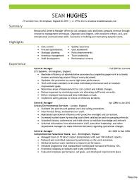 Restaurant Resume Example Resume Examples Restaurant General Manager Therpgmovie 44