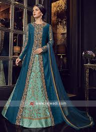 Front Open Salwar Neck Designs Unstitched Heavy Salwar Kameez