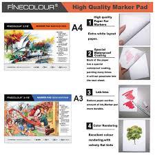 manga page size finecolour size a3 a4 bleedproof marker pad manga sketch marker