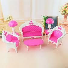 cute furniture.  Furniture New Arrive Children Cute 6pcs Dollhouse For Barbie Doll Furniture Playset  Living Room Parlour Sofa Throughout P