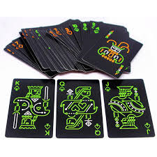 <b>New Arrival Luminous</b> playing cards pure black glow in the dark ...