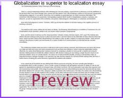 globalization is superior to localization essay term paper help globalization is superior to localization essay