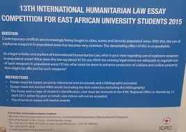th international humanitarian law essay competition for east 13th international humanitarian law essay competition for east african university students 2015 b