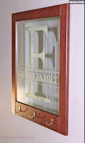 easy diy etched family name and initials on glass