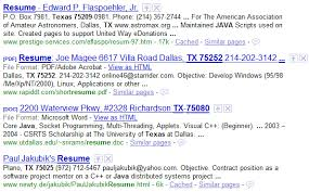 Resumes Search How To Find Resumes On The Internet With Google Boolean