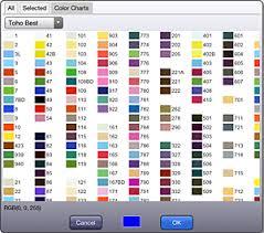 Bead Color Chart Kg Chart Stitchsketch Blog Ikuta Software Design Studio