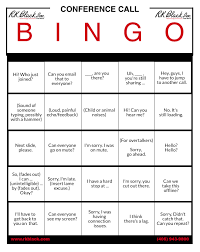 Office Bingo Lets Play Conference Call Bingo Rk Black Inc Oklahoma City Ok