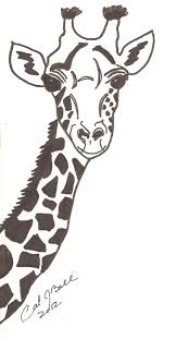 Items Similar To Giraffe In Ink