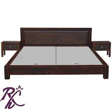 wooden furniture box beds. JIKSA JAALI LOW HEIGHT BED Wooden Furniture Box Beds