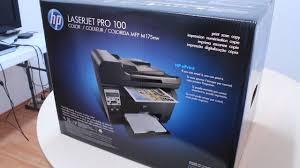 Unboxing Hp Laserjet Pro 100 Youtube