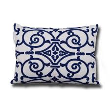 blue and white pillows.  White Danube Embroidered Decorative Pillows 14 With Blue And White Pillows H