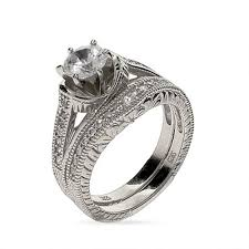 6 Mm Cz Wedding Ring Set In Sterling Silver Eve S Addiction