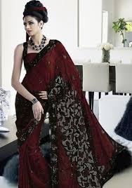 black sarees 4