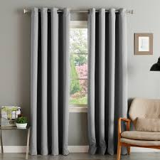 aurora home thermal insulated blackout grommet top curtain panel pair on free today com 9515041