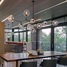 LOFT Industrial Chandeliers Globe Glass Lights Modern Minimalist Design  Chandelier Hanging in Living Room/Restaurant