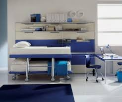 ... Large-size of Sophisticated Bunk Bed Then Wheel Along Covered Bedding  Along With Two Blu ...