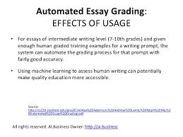 uses cases artificial intelligence and machine learning in educa 19 automated essay