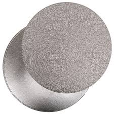 modern stylish round reversible glitter placemats coasters tablemats