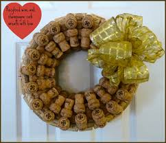 Grab a glue gun, some wine and champagne corks and in no time at all you  can create a beautiful and unique wreath to decorate your home.
