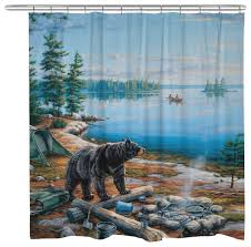 bear lake shower curtain rustic shower curtains