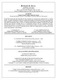 Attorney Resume Templates Resume Example Template