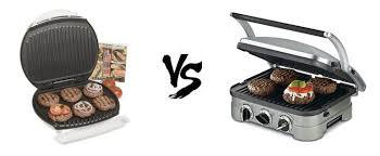 cuisinart griddler vs george foreman