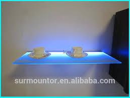 Led Floating Glass Shelves Enchanting Led Glass Shelf Floating Glass Shelves With Led Lights Floating