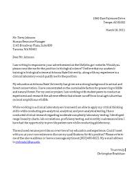 Cover Letter Example Edit My Resume.