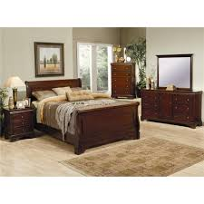 Mahogany Bedroom Suite Coaster Furniture 201481kw Versailles California King Sleigh Bed