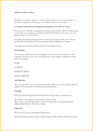 Education Section Resume Example Sample Gallery Photos Delux