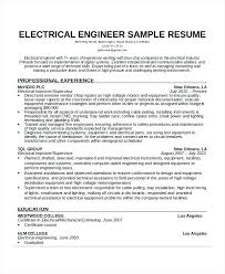 Electrical Engineer Resume Template Skincense Co
