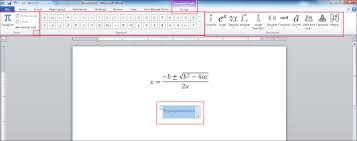 how to write mathematical equation in ms word page