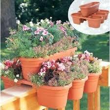 terra garden center plastic deck rail planter 4 piece terra garden center mississauga