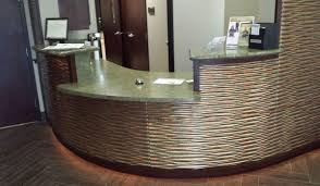 dialyspa cal office reception desk counter top and cabinets