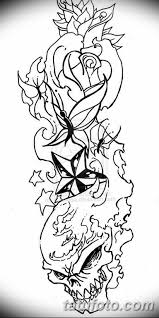 черно белый эскиз тату рукав на руку 11032019 027 Tattoo Sketch