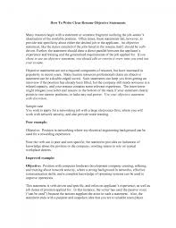 Cover Letter Objective Statement In A Resume Grad School Objective