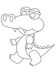 Small Picture Image result for crocodile coloring page Safari Pinterest