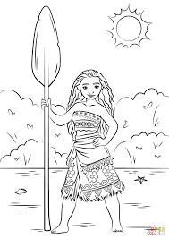 Coloring Pages Ideas Princess Moana Coloring Page Free Printable