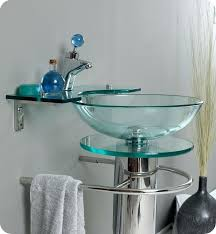 glass bowl vanity applying the double sink
