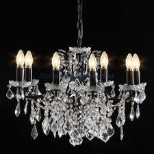 bronze 8 branch shallow chandelier