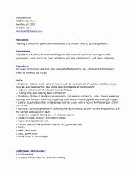 resume technician maintenance general maintenance resume sample best of building maintenance