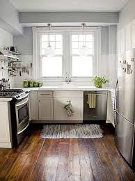 Kitchen:Vintage Shabby Chic Kitchen With Black White Floor Also Bamboo  Blinds Shabby Chic Interior