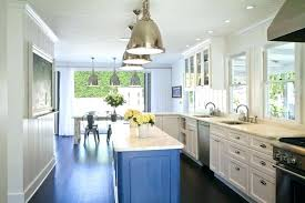 narrow kitchen island narrow kitchen island beach house kitchen design with sleek blue kitchen island plus narrow kitchen island