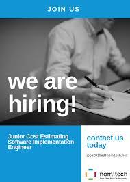 Estimating Job Job Description Junior Cost Estimating Software