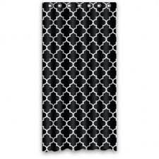 Exellent Black And White Curtains Hipster Moroccan Trellis Throughout Design Ideas