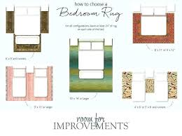 rug size needed for queen bed guide a bedroom master decor rug size for